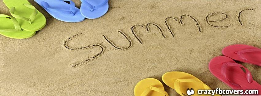 Flip Flops Sand Summer Facebook Cover Facebook Timeline Cover