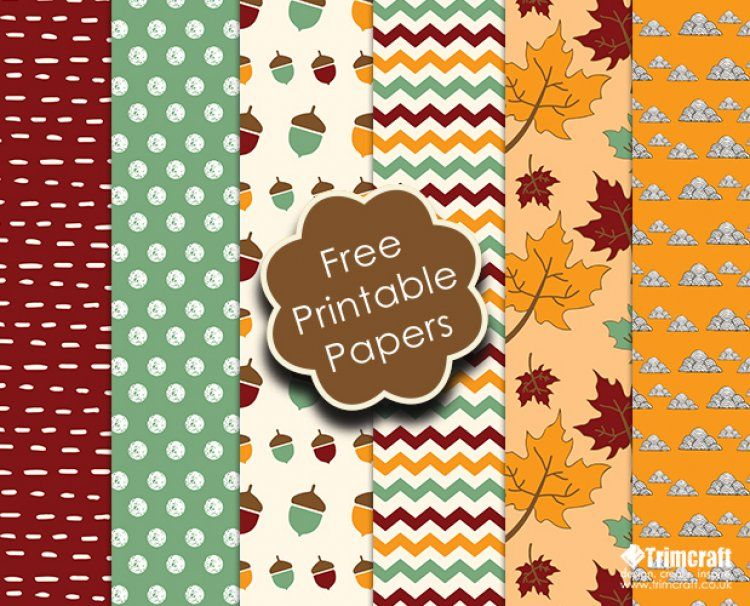 Free Trimcraft Printable Papers and Craft Tutorials for October - printable bordered paper designs free