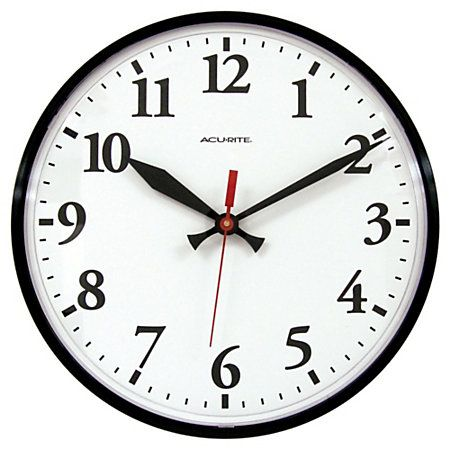 Acu Rite 12 Wall Clock Black Whoa Only 8 Outdoor Clock Outdoor Wall Clocks Outdoor Walls