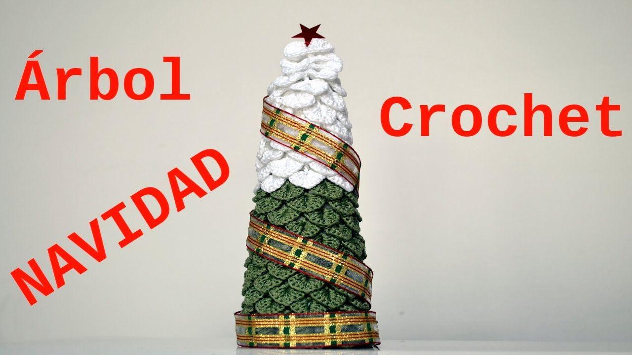 Como hacer un Arbol Navidad a crochet punto escama tutorial paso a ...