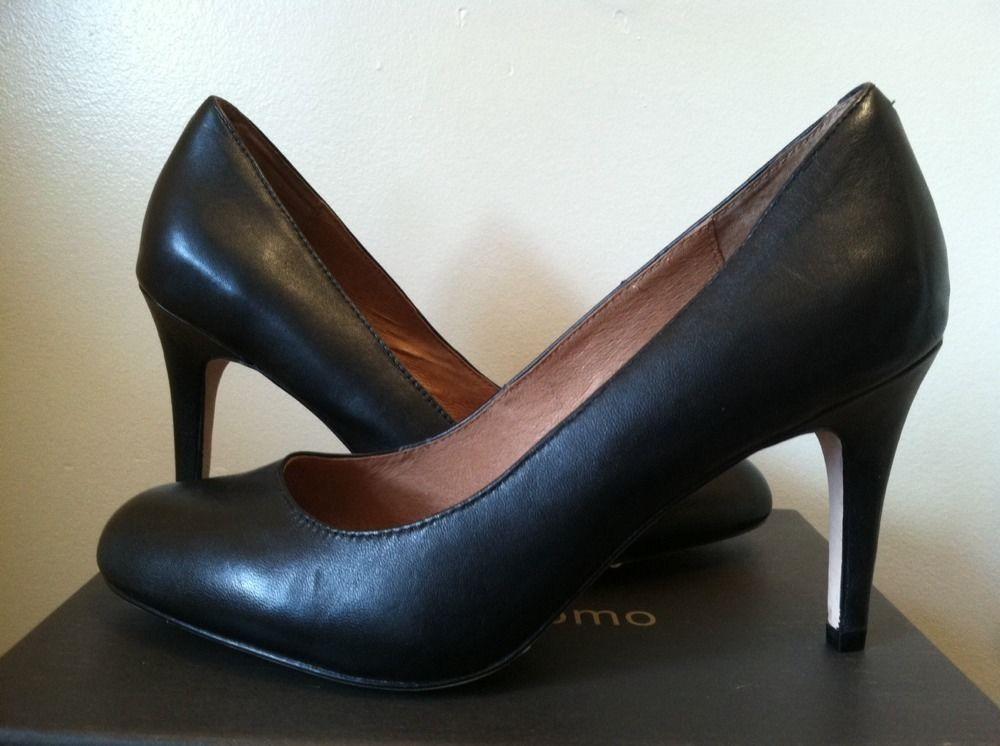 NIB Corso Como Del Black Silk Calf Leather Comfortable Heels Pumps in Size: 9 W #CorsoComo #PumpsClassicsHeels