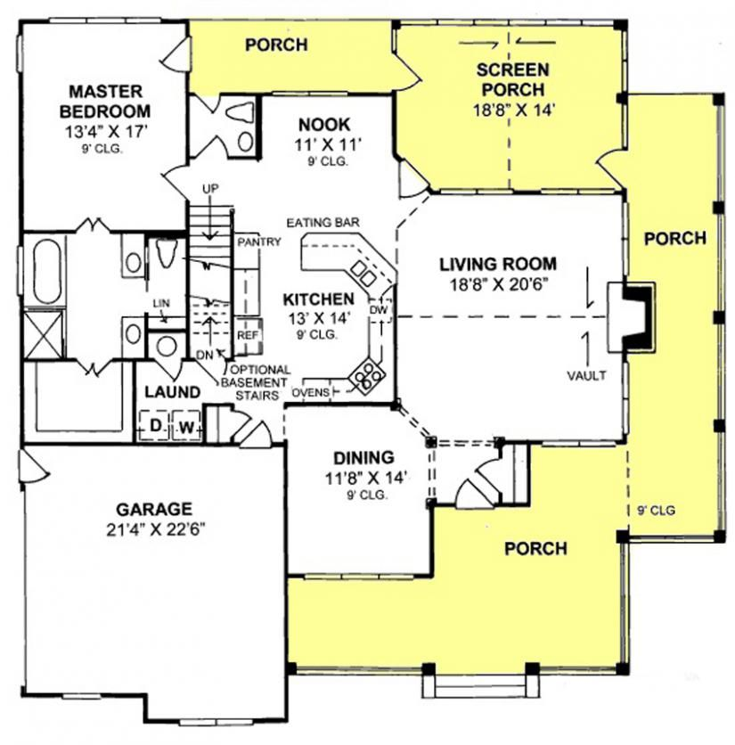 4 Bedroom 3.5 Bath House Plans   655898 4 Bedroom 3 5 Bath Country Farmhouse With All Walk In