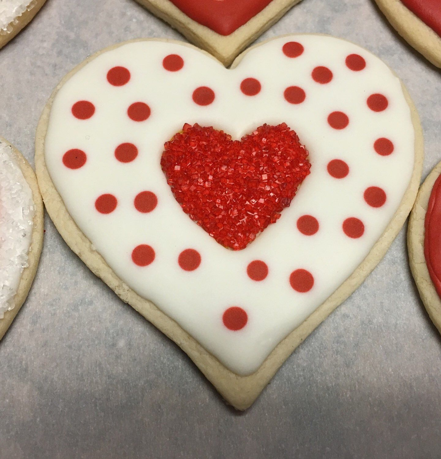 Decorated heart sugar cookies by sugarbellsbakery on etsy