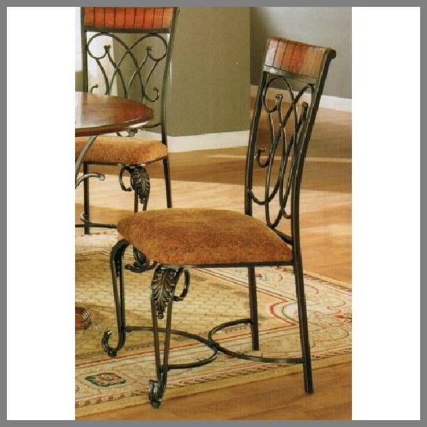 black iron and wood dining chairs | Black wrought iron ...
