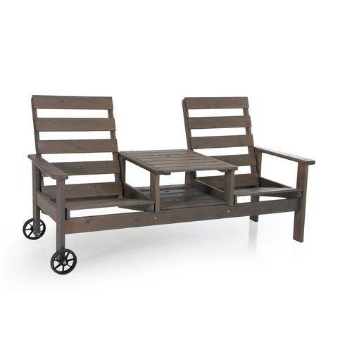 Melancon Pine Traditional Bench Sol 72 Outdoor Colour Grey