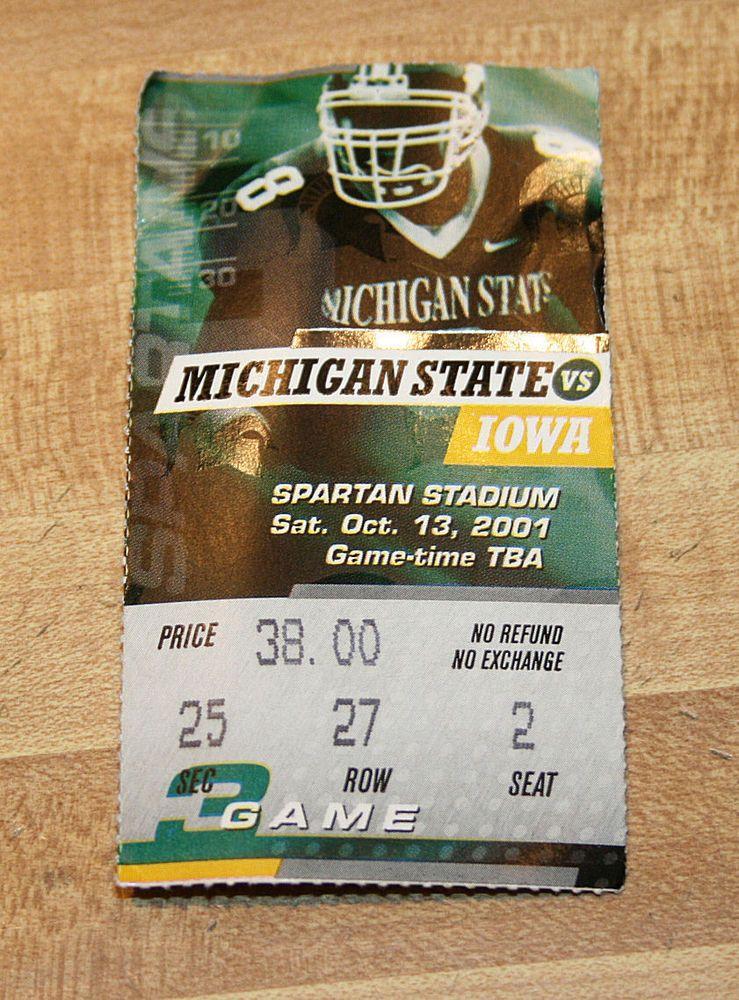 Michigan State Spartans vs Iowa Hawkeyes Football Game