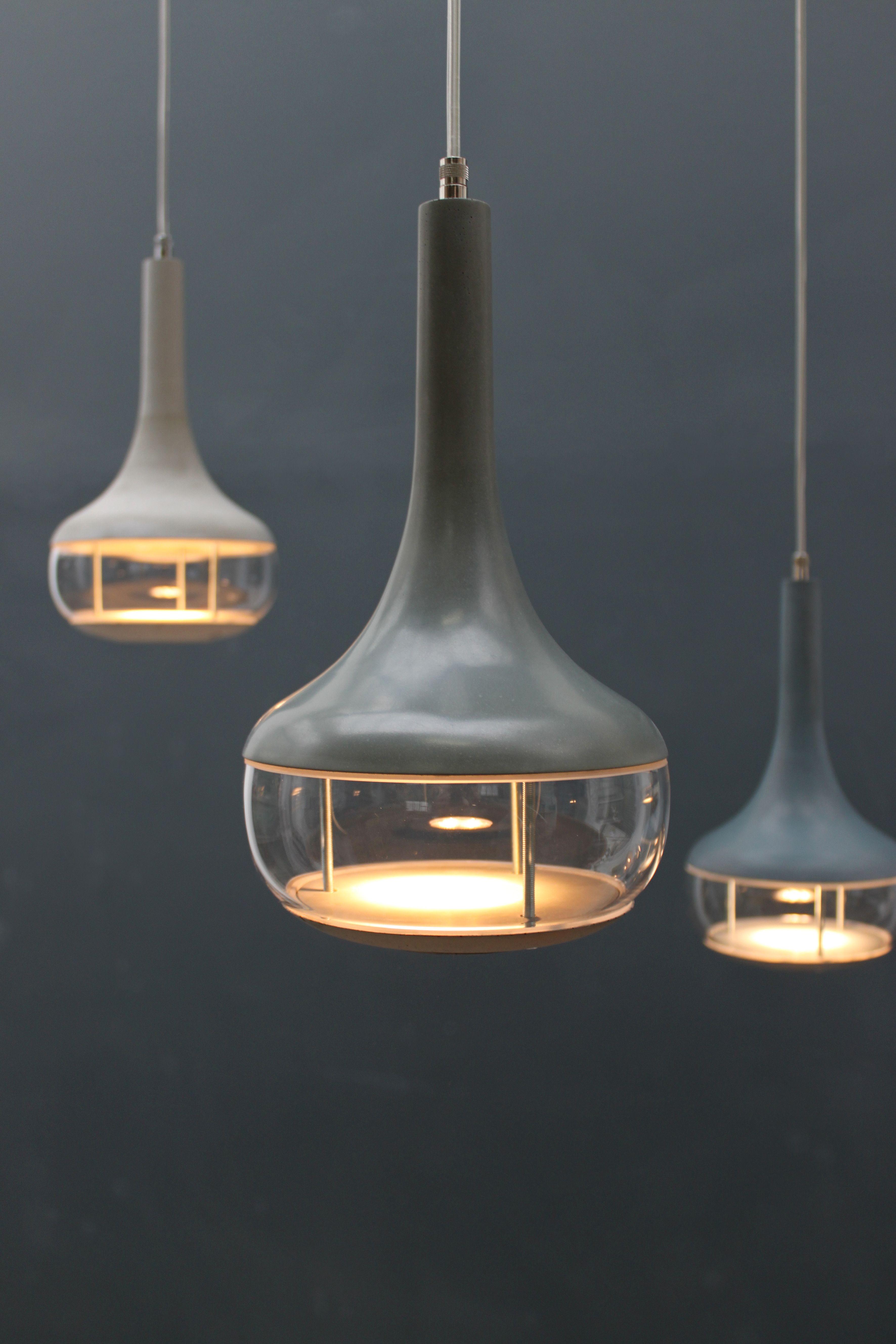 Hängeleuchte, Lamp, Lights, Leuchte, Beton, Kristallglas, Filigran ...