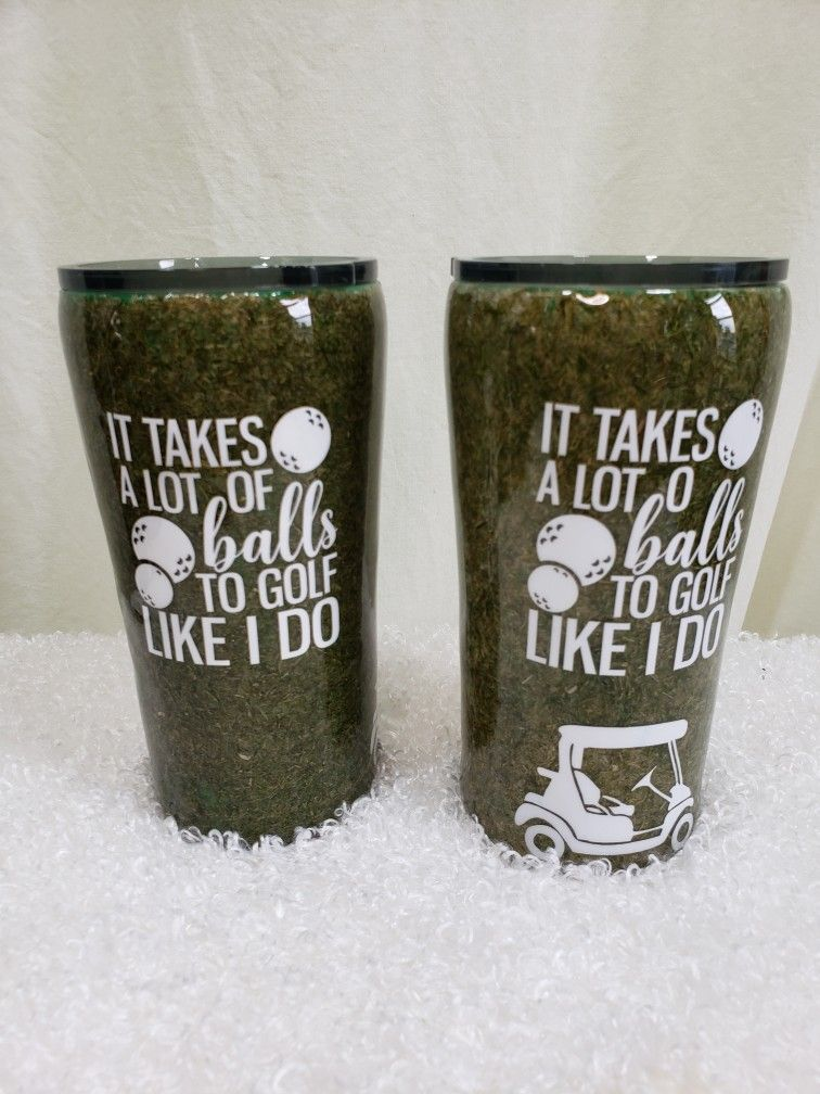 Golf Quot Turf Quot Stainless Steel Tumbler 20 Oz 25 Earthern