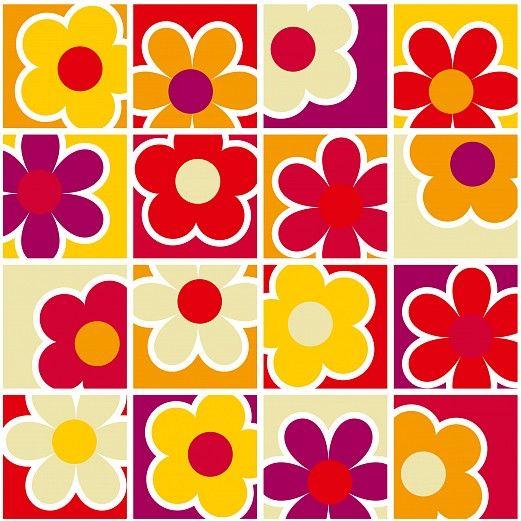 Tapeterie, phg GmbH Augsburg, Fototapeten, Tapeten Pattern Retro - tapeten wohnzimmer rot