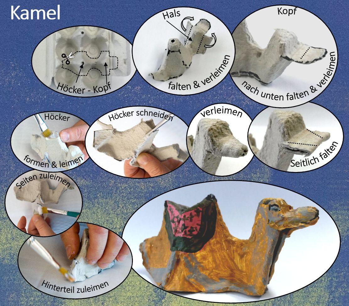 bastelanleitung kamel aus eierschachteln kids team pinterest eierschachteln. Black Bedroom Furniture Sets. Home Design Ideas