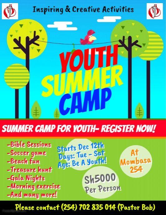 copy of kids summer camp flyer template citam posters pinterest