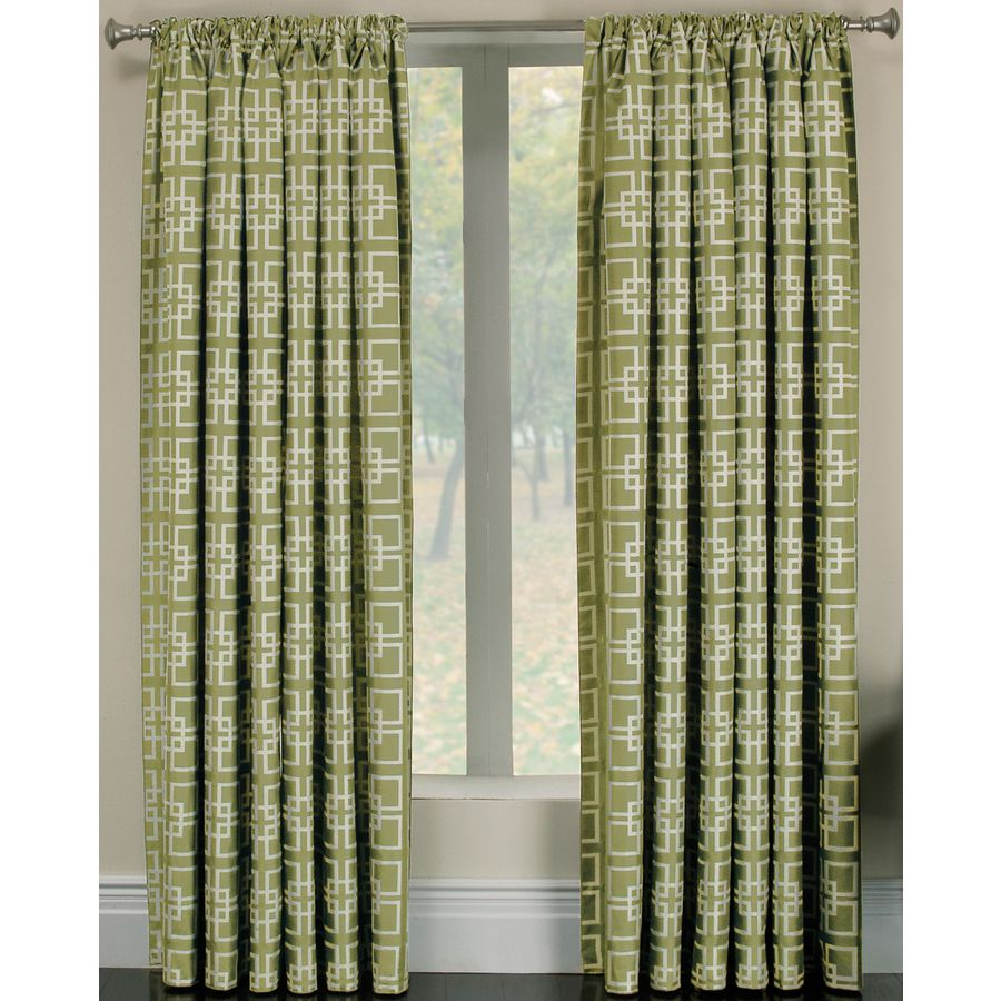 Shop Allen Roth 84 Kiwi Thaddeus Curtain Panel At Lowes Com