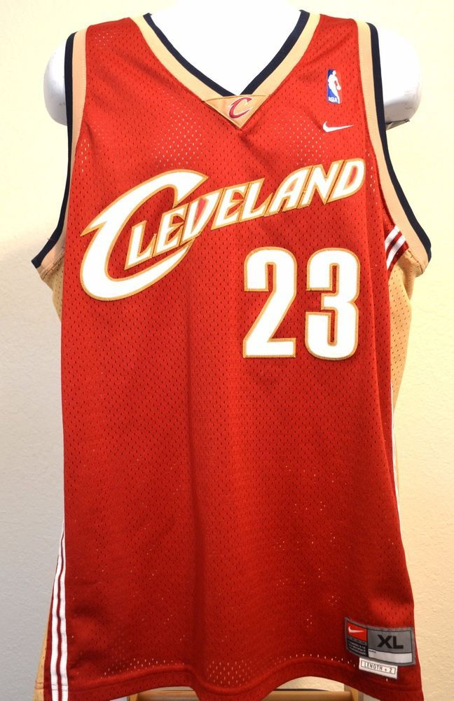 b48af78e955 LeBron James Cleveland Cavaliers Nike NBA Basketball Jersey Men s XL L+2  Sewn  Nike  ClevelandCavaliers