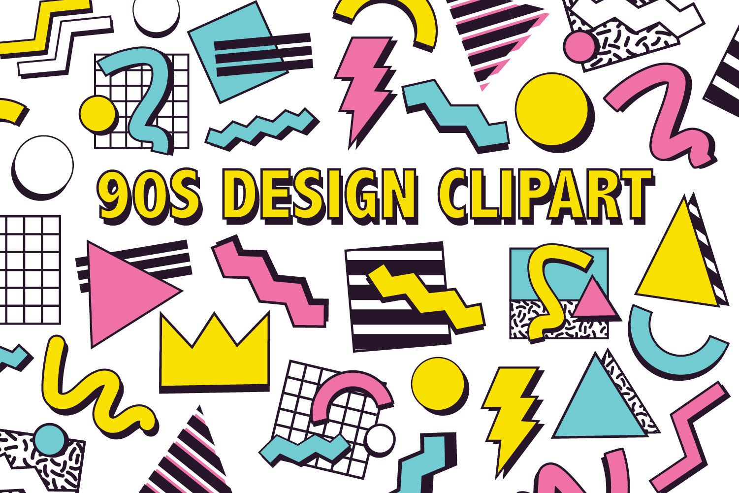 90 S Design Clipart Retro 90s Graphic Design Element Etsy 90s Graphic Design Graphic Design Pattern Digital Graphic Design