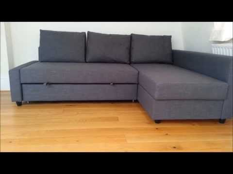 Ikea Friheten Sofa Bed Youtube