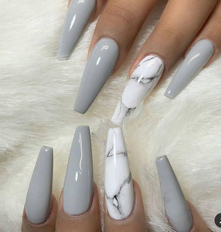 Best Grey Nail Ideas You Will Love Grey Nail Nails Naildesigns Beautiful Nailart Nailstyle Nailcare Nailf Grey Acrylic Nails Gray Nails Acrylic Nails