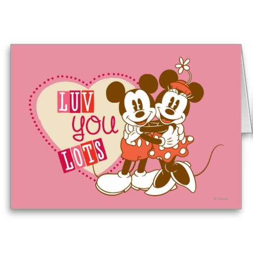 Luv You Lots Card – Minnie Mouse Valentine Cards