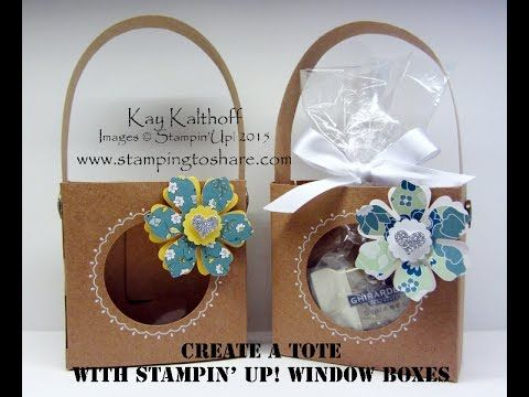Stampin' Up! Window Box Totes