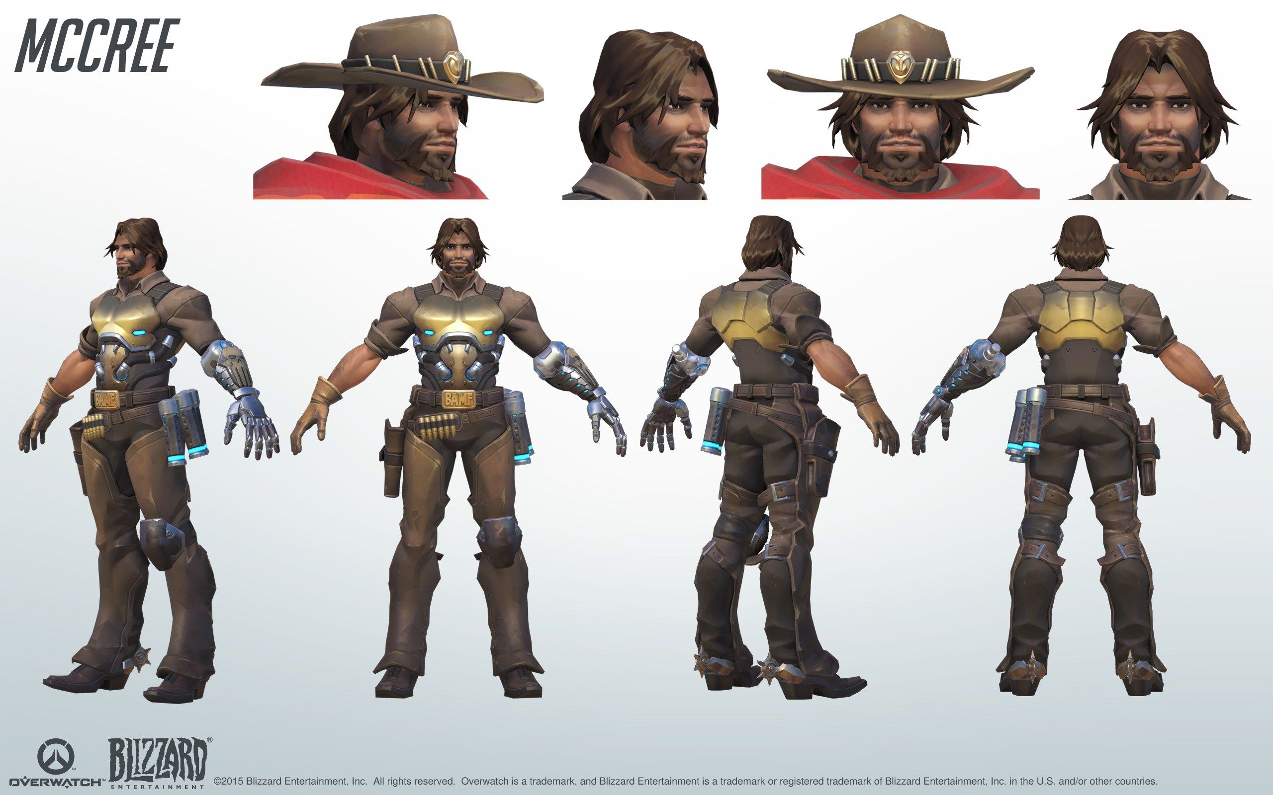 Character Design Overwatch : Mccree overwatch model sheet turnaround