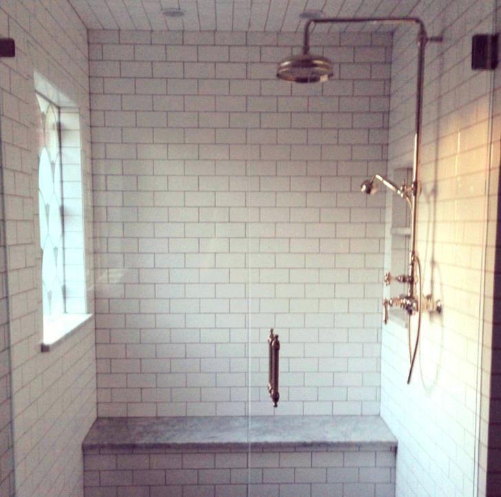 wet bar sink white subway tile kitchen