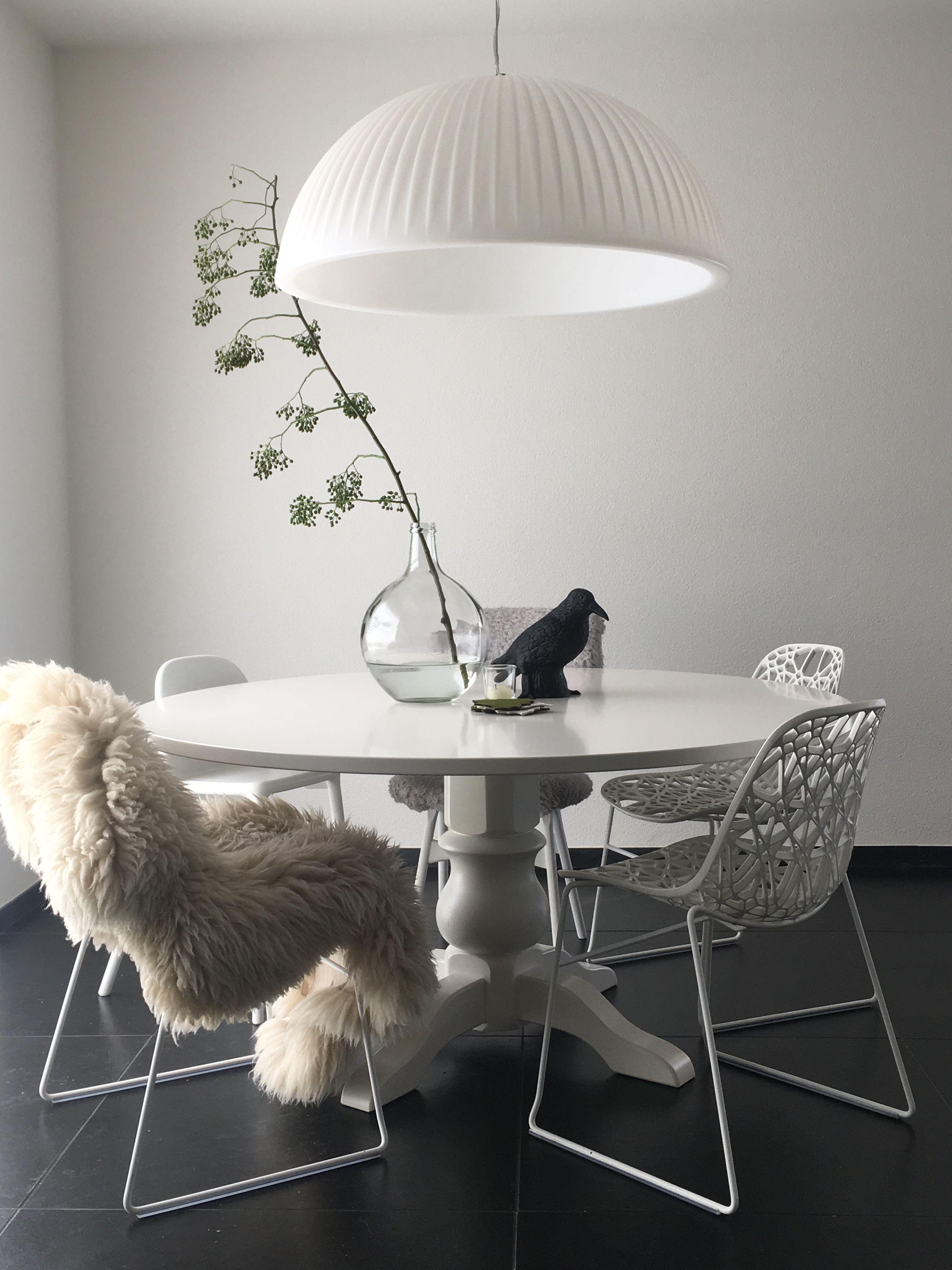 Eettafel Wit Design.Ronde Eettafel Wit Interieur Home Dining Dining Room Room