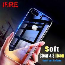 1c35ef32942 Ultra Thin Soft Silicone Cases For iPhone 8 7 6 Plus Case 7plus 8plus 6Plus Transparent  TPU Back Cover For iPhone X 7 Capa Coque