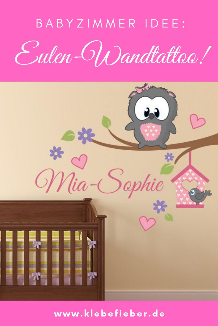 Wunschtext-Wandsticker Babyeule Girl in 2019 | WOW-EFFEKT - Moderne ...