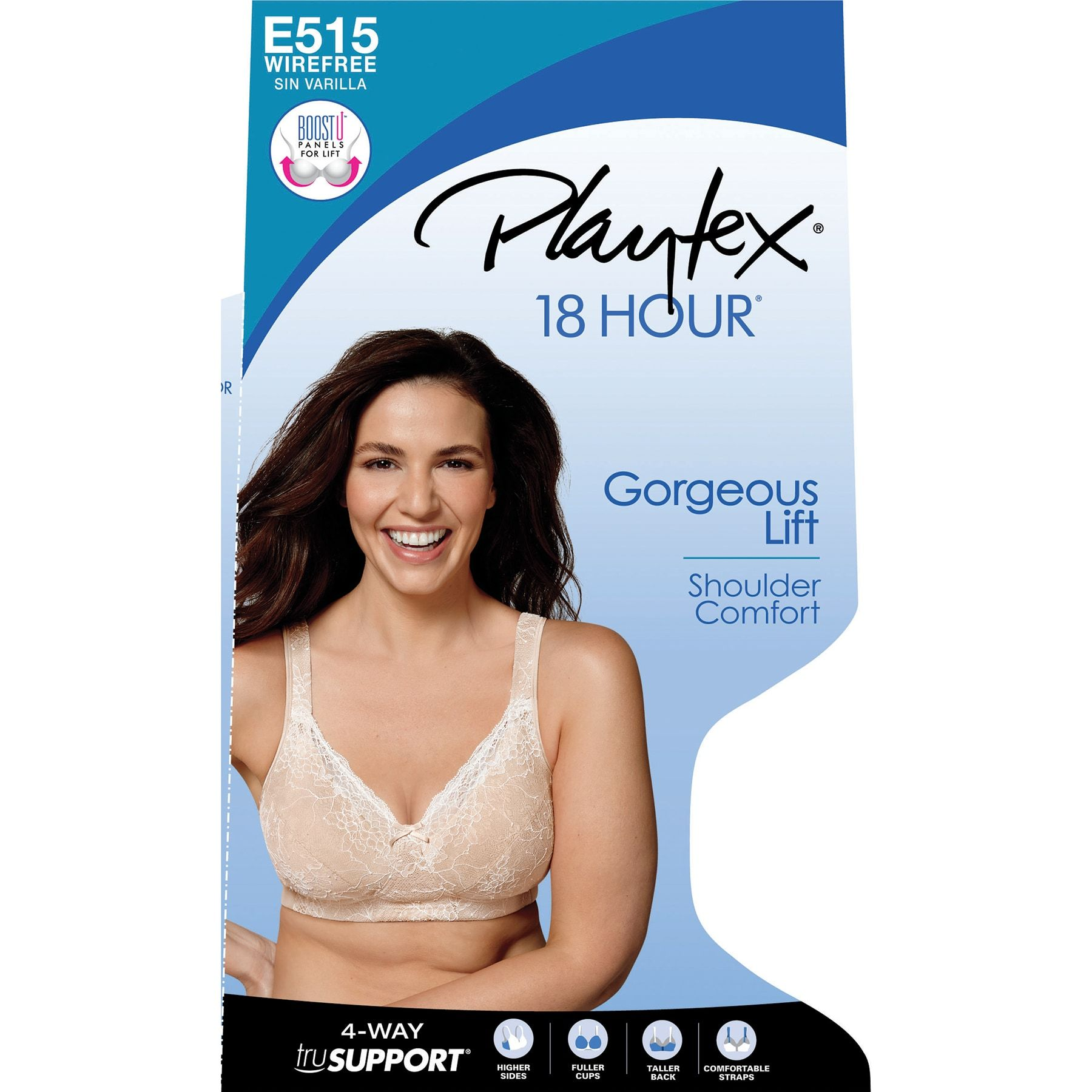 f29d8060dc Playtex 18 Hour Bra  Perfect Lift Lace Wire-Free Full-Figure Bra E515