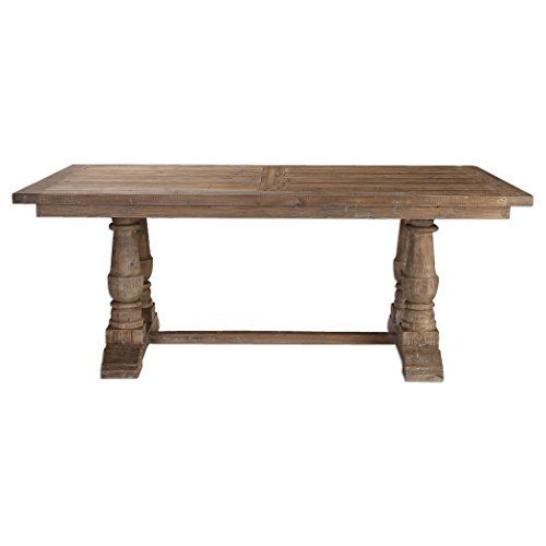 Rustic Pine Architectural Baluster Dining Room Table Fa