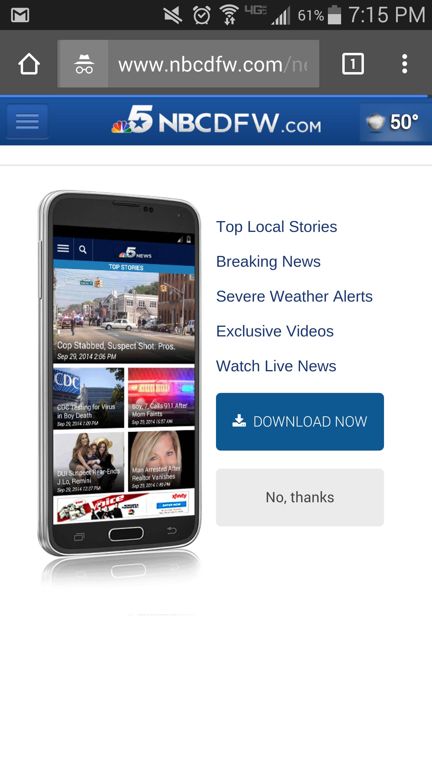 Mobile web - promoting native app
