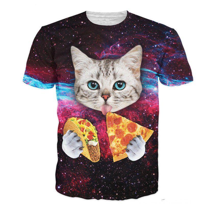 ed65540f52a Cat Pizza Taco Universe Unisex T-Shirt