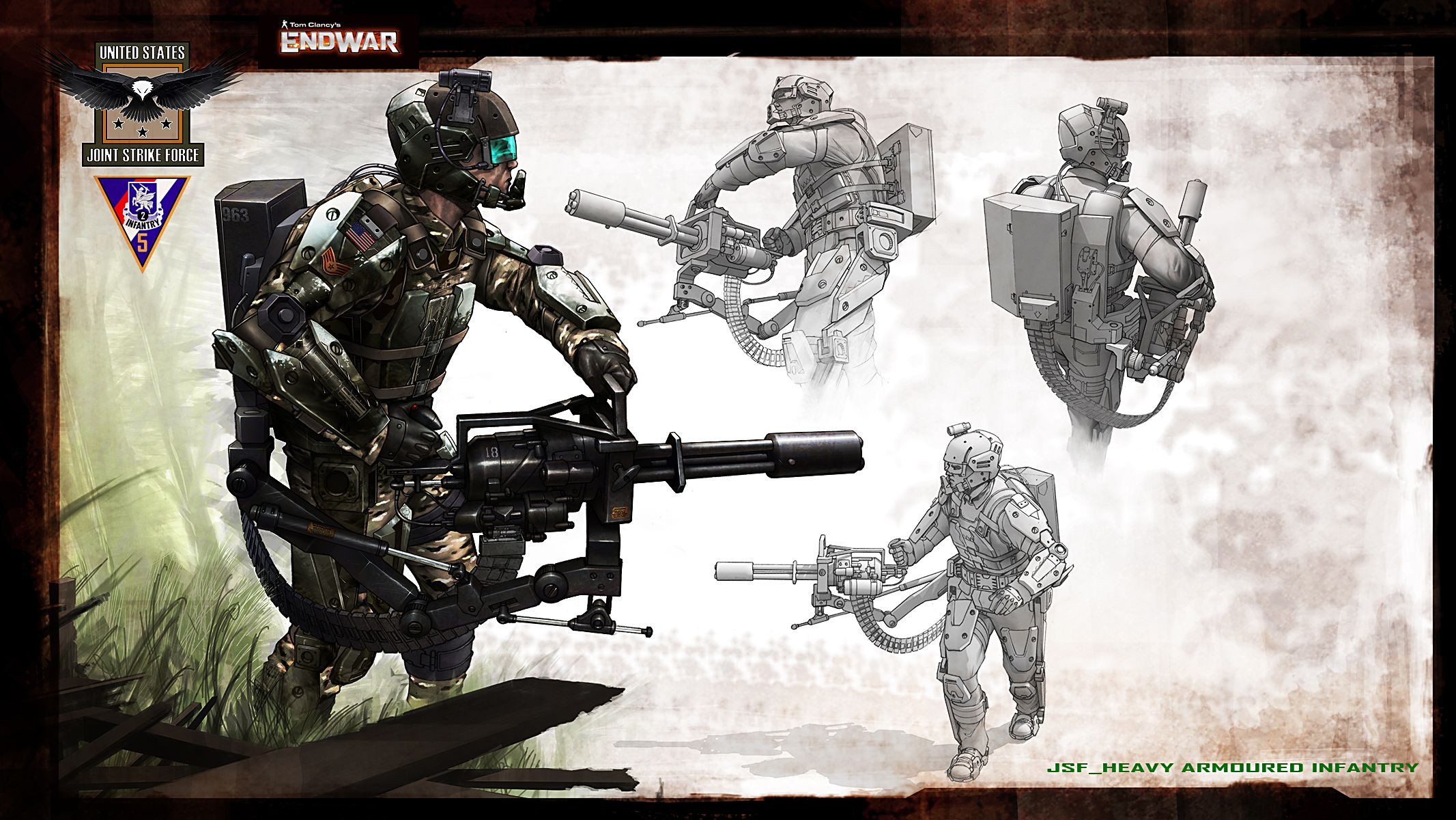jsf heavy infantry Game Tom Clancy's End War Weapon