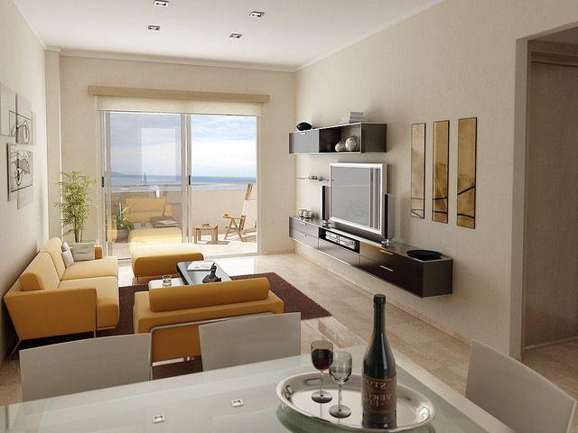 Salas modernas deco living comedor pinterest salas for Casas reducidas