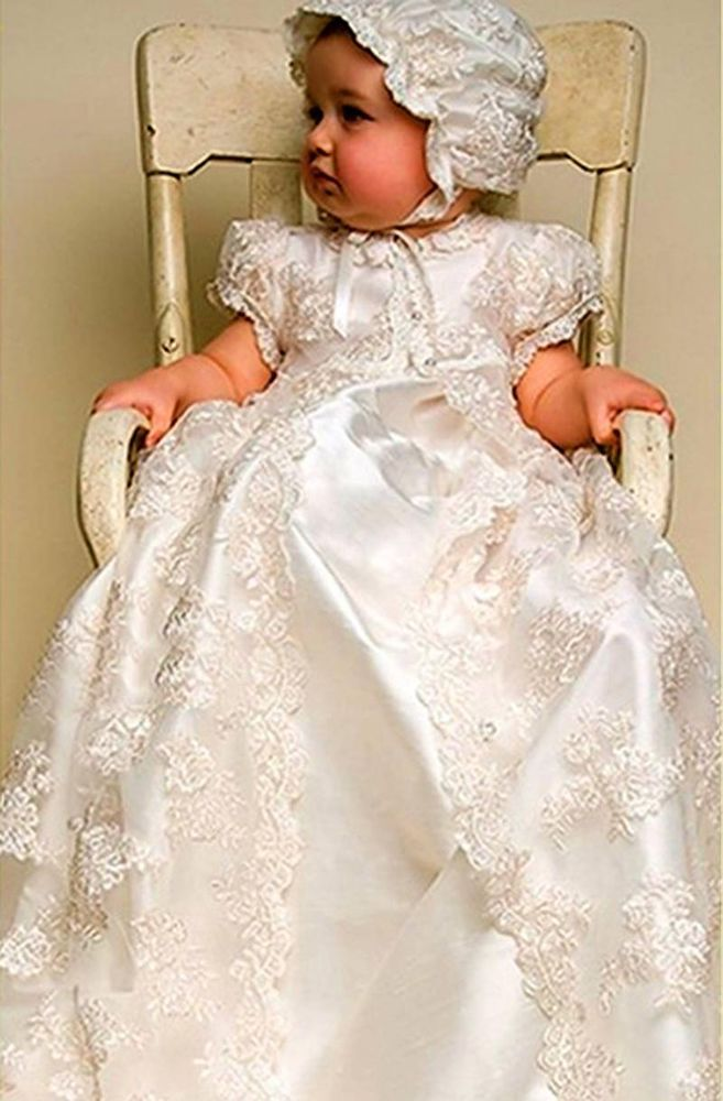 d4f337e54 Traditional Christening gown with long cape and bonnet 0-3, 3-6,6-9 9-12-18