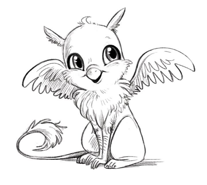 Courtney Godbey On Twitter Cute Fantasy Creatures Griffin Drawing Cute Drawings