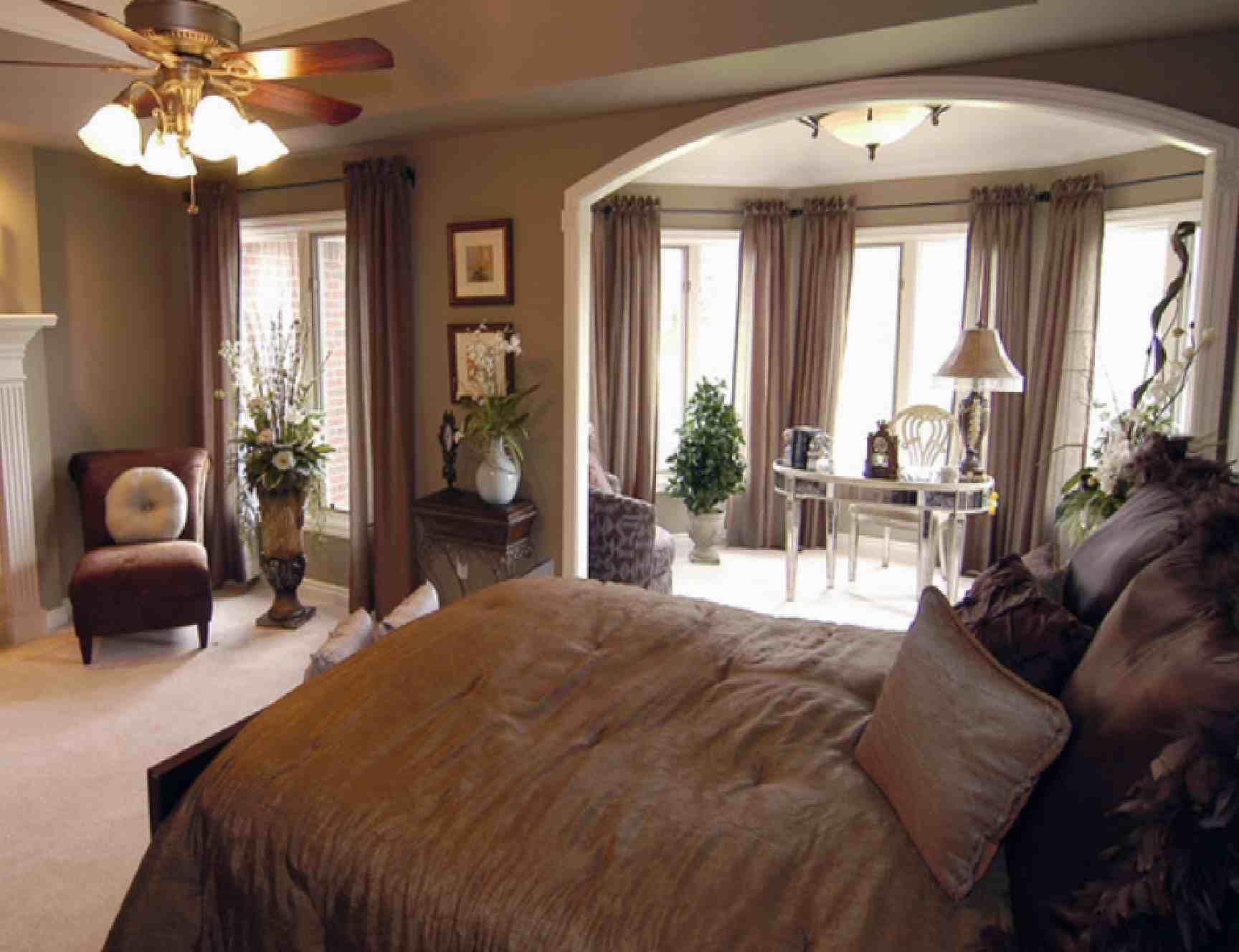 Beautiful luxury bedroom ideas with brown furniture modern