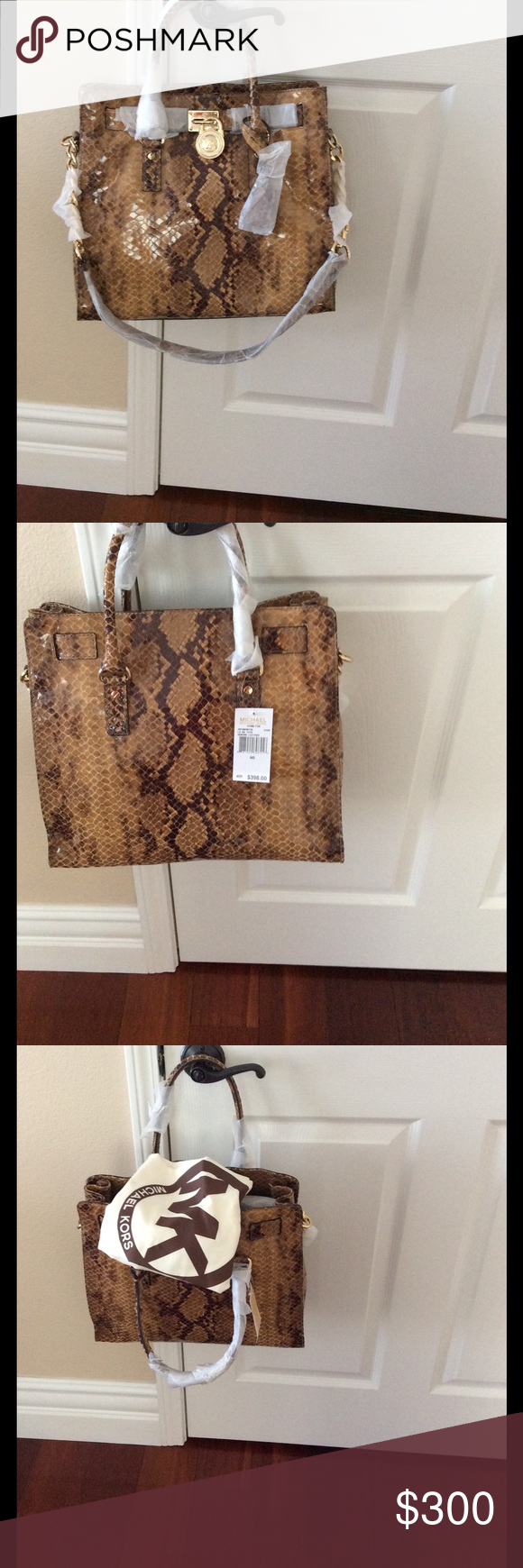 Michael Kors Hamilton Large bag New Authentic still tag attached , sand color !!     No trades! I'm selling to buy Chanel Le boy Michael Kors Bags Totes