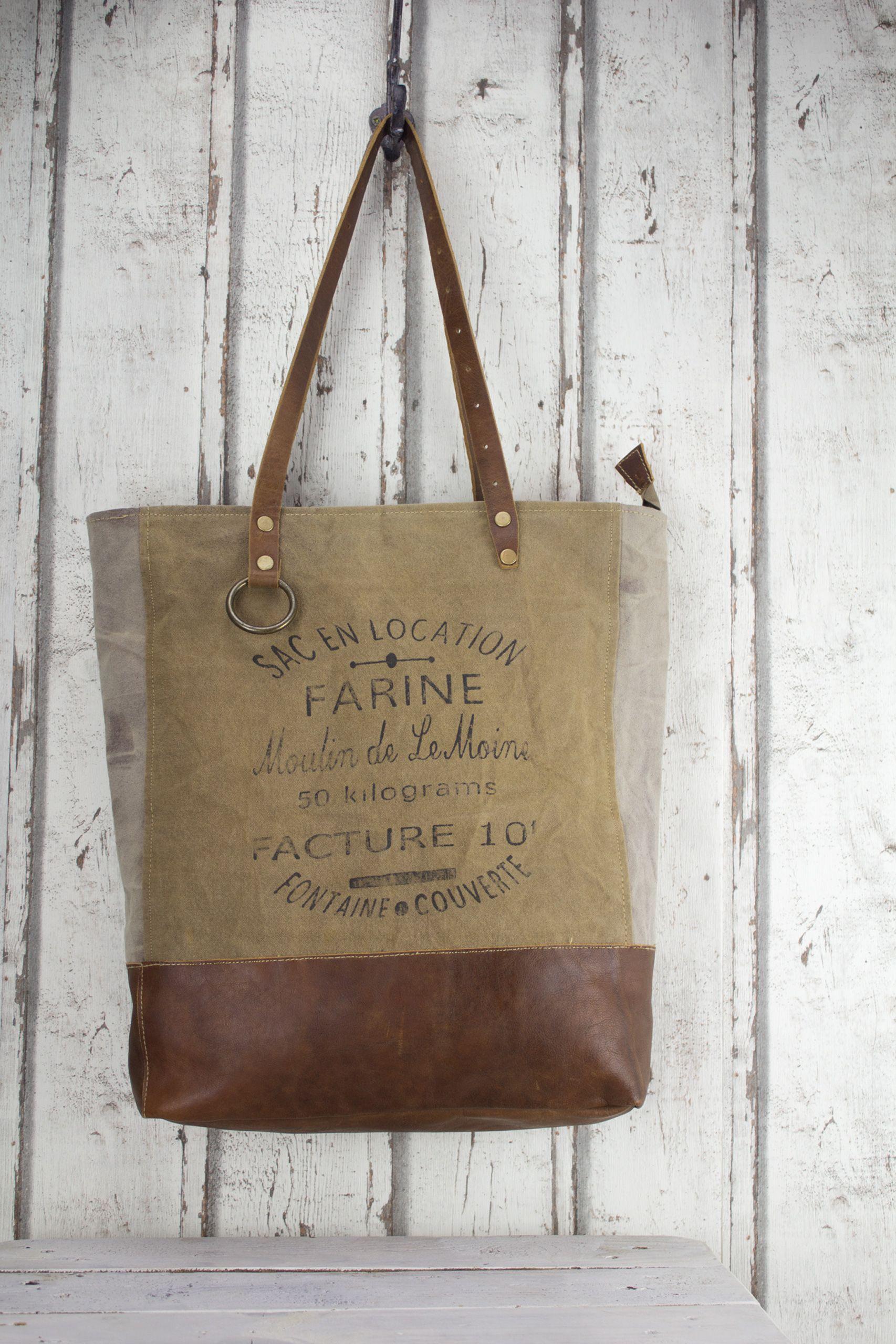 03bf478d4c7f4 Sunsa Vintage Tasche Damen Canvas Canvastasche Ledertasche Leder  Schultertasche Handtasche Shopper Frankreich