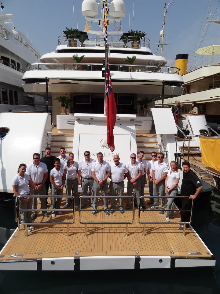 Awesome Superyacht Crew Onboard M Y Sealyon At The Genoa Charter