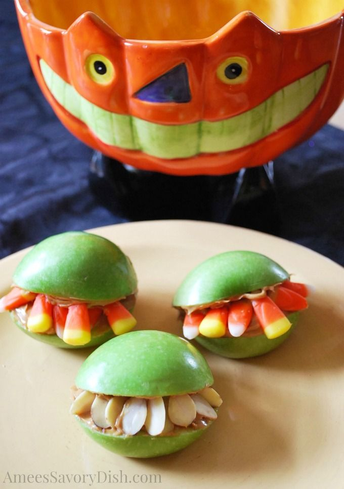 Monster Mouths for fun Halloween food ideas mosaic Pinterest - halloween catering ideas