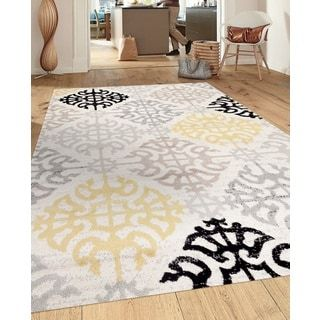 For Porch Den Marigny St Claude Geometric Design Cream Indoor Area Rug