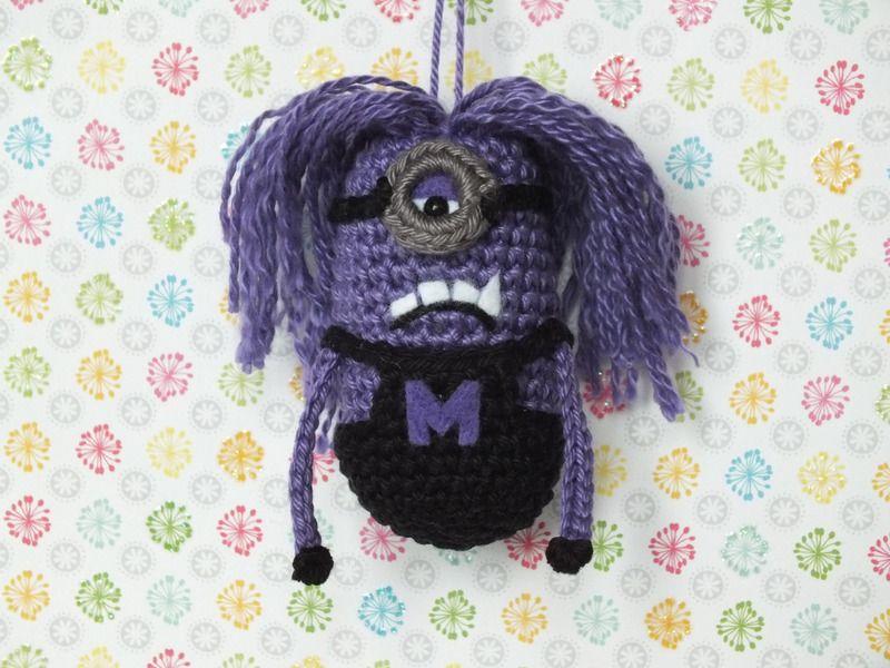 Evil Minion, 7,5cm, Schlüsselanhänger von Strick-und Häkelwahn auf ...