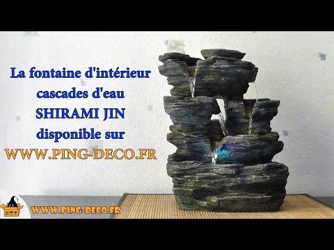 Fontaine intérieur cascades nature Shirami Jin (WWWPING-DECOFR - fontaine a eau d interieur