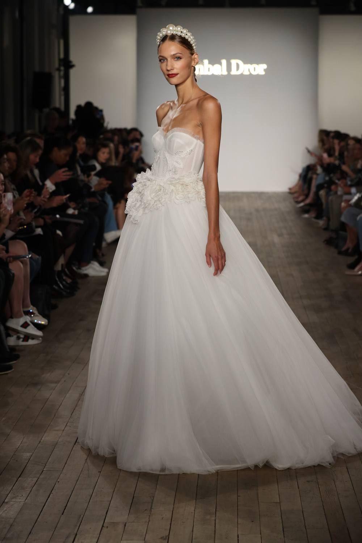 Sequined wedding dress  Inbal Dror Capri  Bridal Runway Show  Wedding Fashion