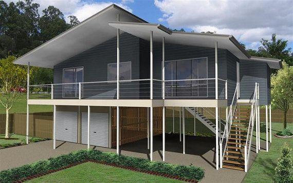 150m2 | 3 Bed + 2 Bathrooms | Hi Set Design | High Set House Plan | Modern  High Set Design| Two Storey| Beach Cottage |pole Home Plan