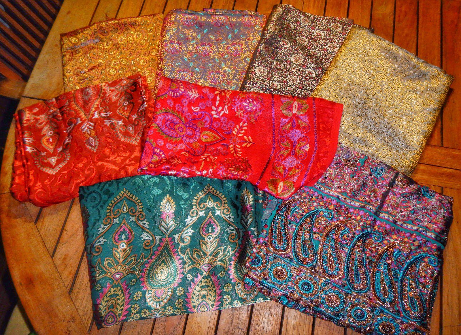 stoffe indiane, seta e chiffon, trovate in vacanza...che colori!