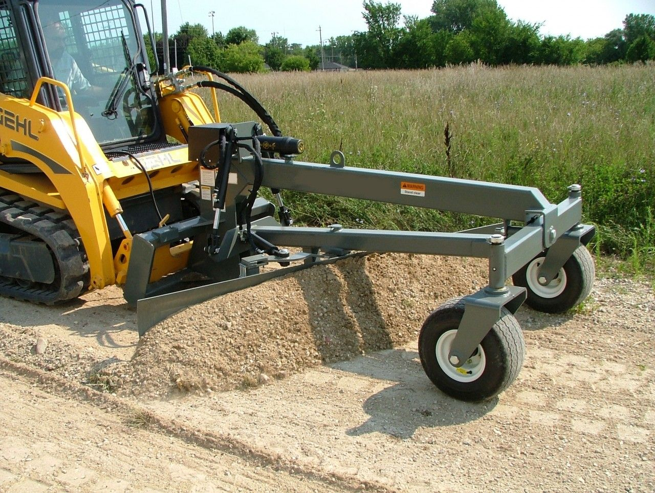 Details about Skid Steer Grader Attachment With Optional