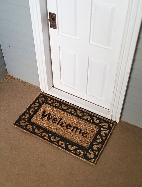 1:12 Dollhouse Miniature Door Mat Rug With Welcome Lettering For Home Garden \