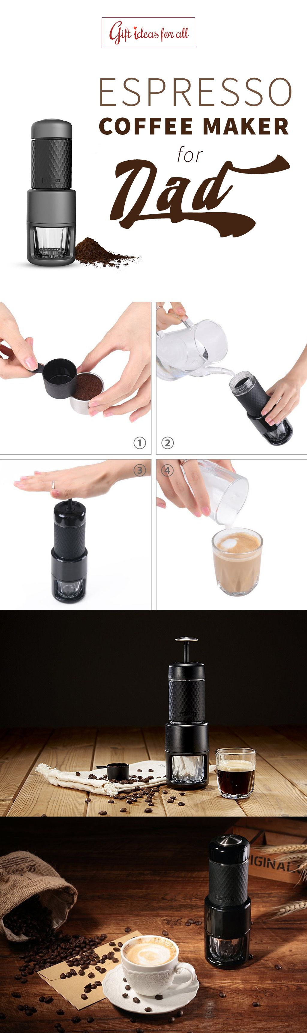 Award Winning Portable Espresso Coffee Maker For Your Dads Upcoming Birthday