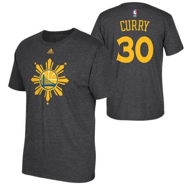 Golden State Warriors adidas Filipino Heritage Stephen Curry On-Court Tee -  Slate